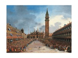 The Doge in the Pozzetto in Piazza San Marco Giclee Print by Giovanni Grubacs