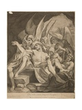 The Trinity with the Dead Christ, 1668 Giclee Print by Lodovico Carracci