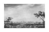 New Port and Arsenal of Toulon, Seen from the Artillery Depot, 1755 Giclée-Druck von Claude Joseph Vernet