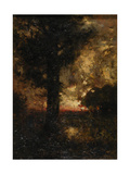 Landscape with Figure, C.1890 Giclee Print by Alexander Helwig Wyant