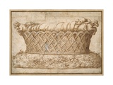Design for an Infant's Tomb Giclee Print by Giulio Romano