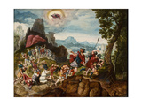 Landscape with the Conversion of Saul on the Road to Damascus, C.1545 Giclee Print by Herri Met De Bles