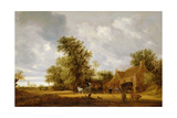 Wooded Landscape, 1644 Giclee Print by Salomon van Ruisdael or Ruysdael
