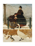 Frozen Out, 1866 Giclee Print by George Dunlop Leslie