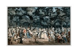 The Public Promenade, 1792 Giclee Print by Philibert Louis Debucourt