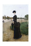 An Elegant Lady in the Bois De Boulogne, 1880 Giclee Print by Norbert Goeneutte