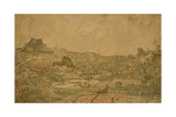 Town with Four Towers, C.1631 or Later Giclee Print by Hercules Segers