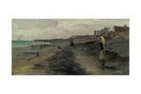 Beach by Dieppe, 1881 Giclee Print by Frank Myers Boggs