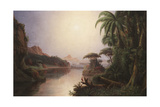 Tropical Landscape Giclee Print by Norton Bush