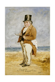 Full Length Portrait of Joseph Mallord William Turner, 1849 Giclee Print by Charles Martin
