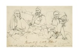 Peasants of Little Tibet - Tibetan Coolies Resting Themselves Near Jiba, 1835 Giclee Print by Godfrey Thomas Vigne