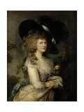 Portrait of Georgiana, Duchess of Devonshire, C.1785-87 Reproduction procédé giclée par Thomas Gainsborough