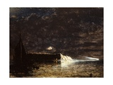 Night Bombardment, Fort Sumter, December 10, 1864 Giclee Print by Conrad Wise Chapman