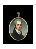 Miniature Portrait of a Gentleman, Wearing Dark Blue with Brass Buttons, White Shirt and Stock Giclee Print by Andrew Robertson