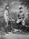 General George A. Custer and Grand Duke Alexis, in Hunting Clothes, 1872 Lámina fotográfica por David Frances Barry