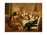 The Reading from Moliere, C.1730 Giclee Print by Jean Francois de Troy