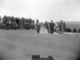 Dedication of Standing Rock, Major Mclaughlin and Sitting Bull in Foreground, 1880s Lámina fotográfica por David Frances Barry