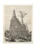 Ruins of Wat Sisampet Giclee Print by Hercule Catenacci