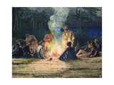 Artist's Halt in the Desert by Moonlight, C.1845 (See also 351541 and 3513432 Giclee Print by Richard Dadd