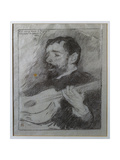 Guitarist, 1889 Giclee Print by Théo van Rysselberghe