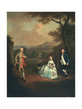 Sir George Lyttelton, Bart., with Lt. Col. Richard Lyttelton, and Rachel, Duchess of Bridgewater,… Giclee Print by Arthur Devis