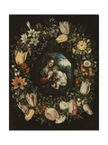 Madonna and Child in a Garland of Flowers, C.1625 Giclee Print by  Jan Brueghel and Hendrik van Balen