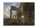 Soldiers Looting a Peasant Family, C.1650 Giclee Print by Johannes Lingelbach