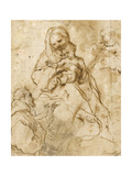 Virgin and Child with St. Francis Giclee Print by Federico Fiori Barocci or Baroccio