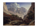 The Gorges of Atlas, 1843 Giclee Print by Paul Jean Flandrin