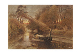 The Lady of Shalott Giclee Print by Albert Goodwin