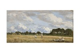 Haymaking (Le Foins), C.1870-90 Giclee Print by Eugène Boudin
