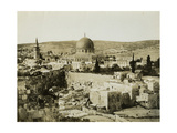 Dome of the Rock from the Jewish Quarter, 1850s Giclee Print by Mendel John Diness