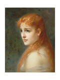 Young Girl with Red Hair, 1895 Giclee Print by Franz Thone