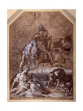 Religious Allegory, the Gathering of the Manna and the Institution of the Eucharist Giclee Print by Federico Barocci