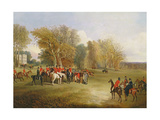 A Hunt Meet in a Parkland with a Country House Giclee Print by John Dalby