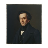 Portrait of Felix Mendelssohn, Duesseldorf, 1834-35 Giclee Print by Ferdinand Theodor Hildebrandt