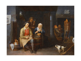 The Interior of an Inn with Peasants Smoking, 1647 Giclee Print by David III Ryckaert