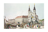 Parish Church and Convent of Mariahilf, Vienna, 1783 Giclee Print by Johann Ziegler