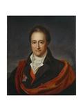 Portrait of Wolfgang Von Goethe, Dresden, 1810 Giclee Print by Franz Gerhard von Kugelgen