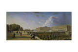 The Palace and Terrace at Versailles, C.1825-35 Giclee Print by William Cowen