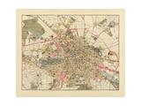 Mapa de Berlin, Publicada por C.L. Keller, Berlin, 1890 Lámina giclée por Jul. Straube