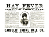 Advertisement for the 'Carbolic Smoke Ball Co.', 1892 Giclee Print