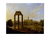 Rome: View of the Forum Looking Towards the Capitol, 1819 Giclee Print by Gaspare Gabrielli