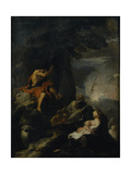 St. John the Baptist Preaching in the Wilderness Giclee Print by Pierre Louis Cretey Or Cretet