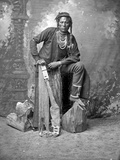 Curley, Crow Scout, 1880s Photographic Print by David Frances Barry