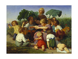 The Story Teller, 1843 Giclee Print by Lorens Frolich