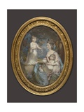 Portrait of Emma, Countess of Tankerville, with Her Daughters Caroline and Anna Giclee Print by Daniel Gardner