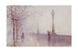 The Last Lamp, Thames Embankment, 1892 Giclee Print by Rose Maynard Barton