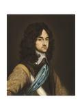 Portrait of King Charles II, 1650s Giclee Print by Adriaen Hanneman
