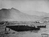 Troops in Formation During the Second Anglo-Afghan War, 1878-80 Photographic Print